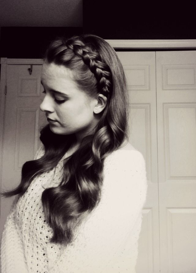 Headband Dutch Braid With Curls Hairstyles Pinterest
