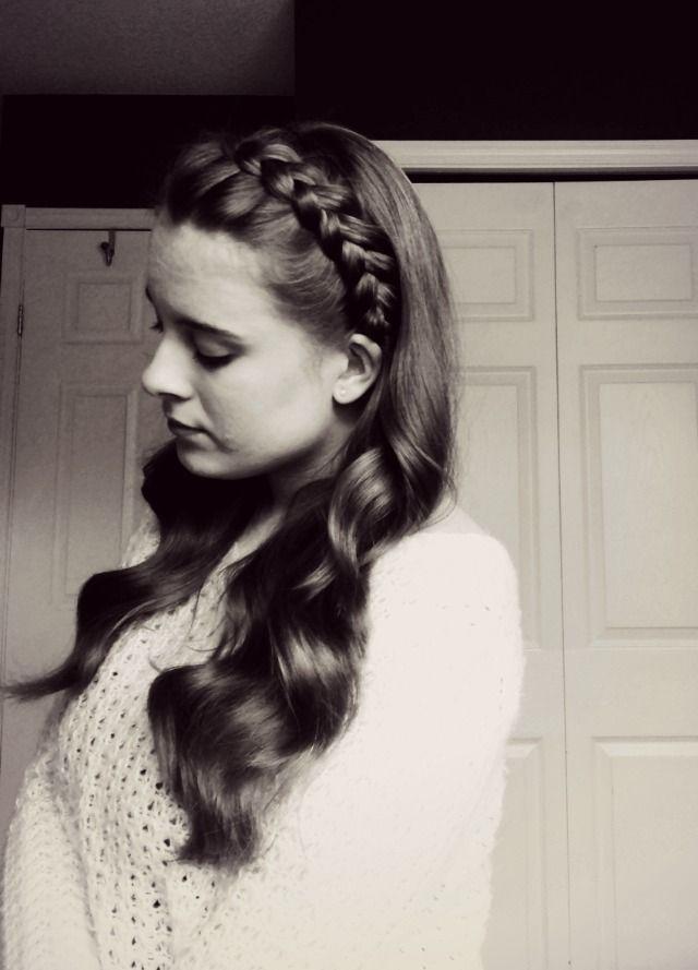 Headband Dutch Braid With Curls Hairstyles Pinterest