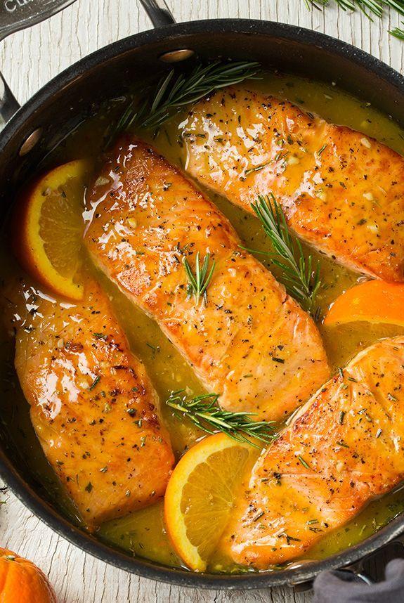 Orange-Rosemary Glazed Salmon   Cooking Classy