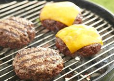"""How To Grill The Best Burger I """"When a hamburger is done right, you know it–the smoky, char-grilled outside and the juicy inside, all barely contained within a chewy, toasty roll. That's what a burger is all about! Here are some grilled burger basics."""""""