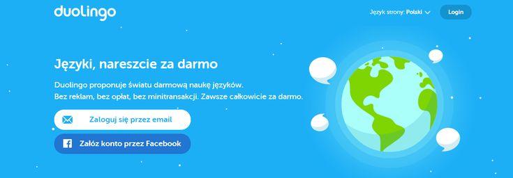 https://www.duolingo.com/ - darmowy kurs języka angielskiego