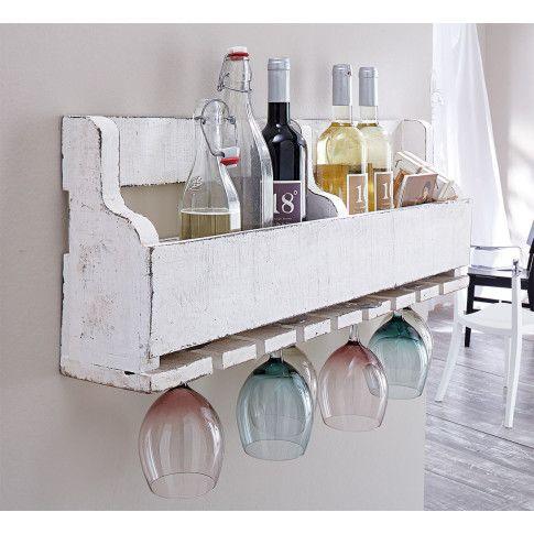Natürlich-robust: Imposantes Regal zur Aufbewahrung von 8 Weinflaschen. #impressionen #living