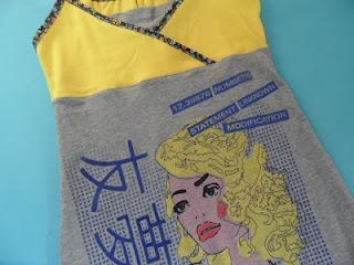 Zaanse Zolder: recykleren; jurk gemaakt van shirts