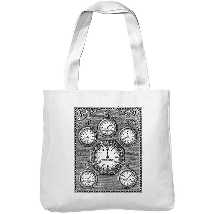Mintage Antique International Clock Museum Tote Bag