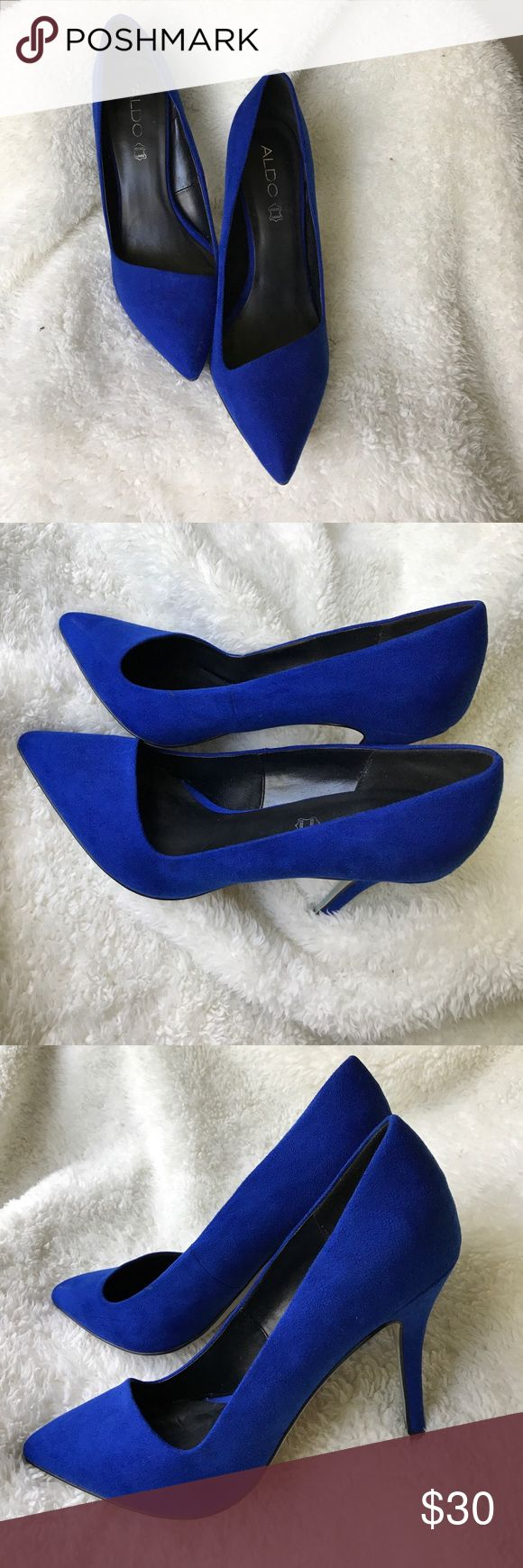 Cobalt blue suede pumps Beautiful cobalt blue suede pumps by ALDO would look great with literally everything! Try them with jeans, dress, rompers, etc. Comfortable and colorful! Aldo Shoes Heels