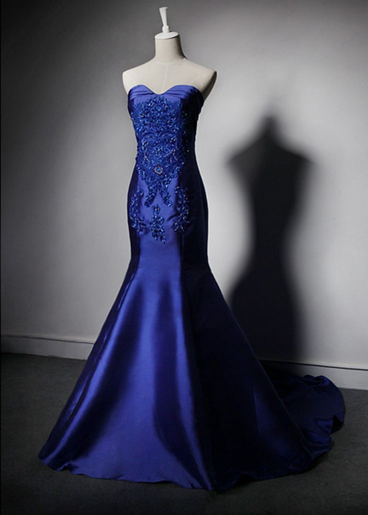 mermaid prom dresses,2016 prom dresses,royal blue prom dresses,Sweetheart Prom…