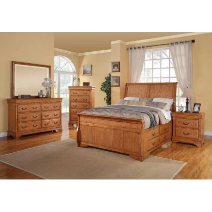 Private reserve daisy collection 7 piece queen bedroom for Master bedroom sets queen