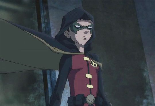 Damian...the only Robin to fight with a hood on. Do you know why? Because he proved that he had exceptional hearing.