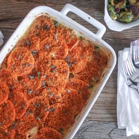 Sweet Potato Gratin with Pancetta, Parmesan and Sage. The perfect ...