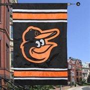 "Baltimore Orioles 44"" x 28"" Team Logo Applique Double-Sided Banner - Black"
