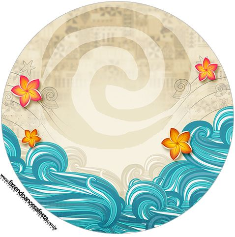 Moana Baby: Free Printable Cupcake Toppers and Wrappers.