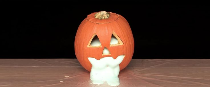 Learn how to decorate pumpkins with glowing powder called zinc sulfide