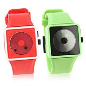 Pair of Fashion Silicone Band Wrist Watch(Gre... – AUD $ 10.96