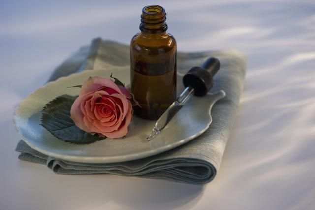 One of the most popular scents in aromatherapy, rose oil may help relieve stress, anxiety, cramps, and hot flashes.
