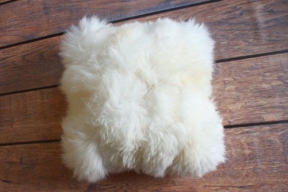ON SALE Beautiful unique real natural SHEEPSKIN Cushion