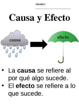 Causa y Efecto - Cause  Effect - Spanish - Bilingual/Dual-Language