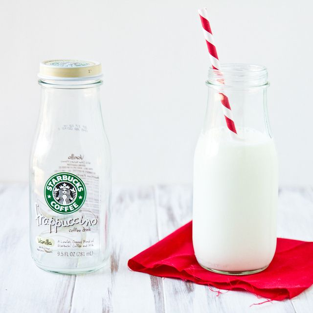DIY Milk Bottle Photo Prop by foodiebride   I like this, but rather than having a plain clear bottle, I want to collect a bunch and dip them in paint. And rather than using them for photo props, I'm going to use them all the time. With straws. Always.