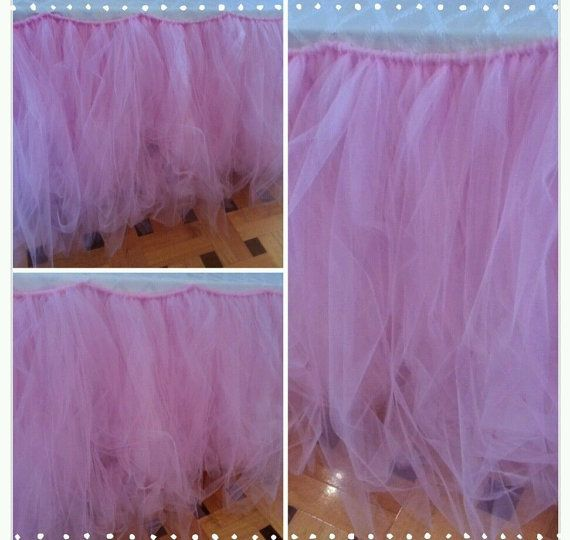 Tutu Table Skirt Candy Buffet Table Skirt Tulle by PoshMyParty, $60.00