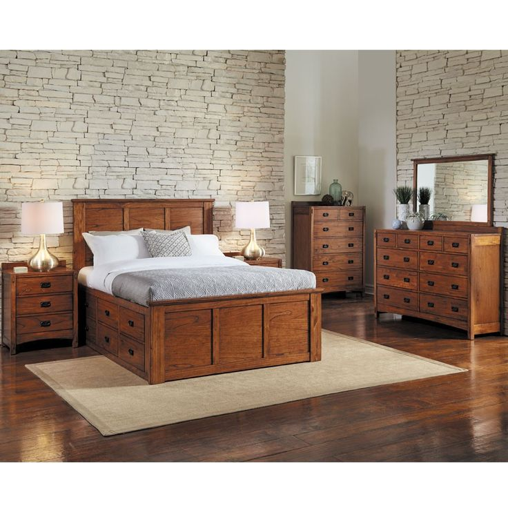 A America Mission Hills Wood Captain Platform Bed In Harvest By Humble Abode The