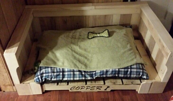 Dog Bed I Built Out Of Old Pallets Dog Bed Pallet