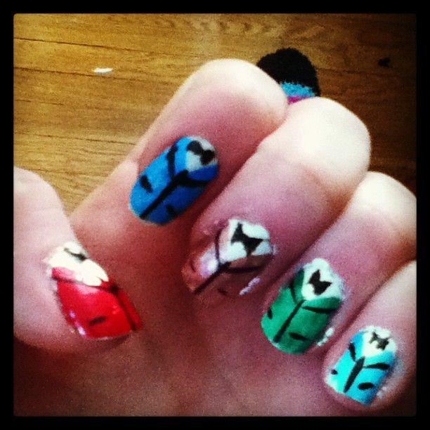 my tuxedo nails :D