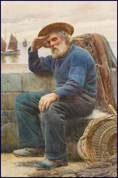 walter langley | walter langley among the missing scene in a cornish fishing village ...