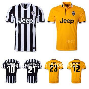 6d36410fd ... 13 14 Juventus Home Soccer Jersey TEVEZ LLOREENTE PIRLO MARCHISIO VIDAL  VCINIC POGBA Football Shirts Jersey ...