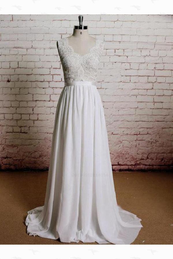 a70c20949d Customized Comfortable A-Line Wedding Dress