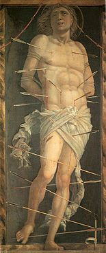 Andrea Mantegna, St. Sebastian, 1490 Panel, 210 × 91 cm Ca' d'Oro, Venice