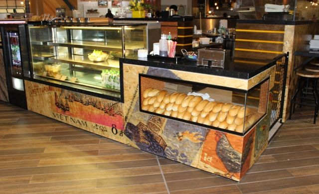 Designs found by client, printed onto OSB board, with a clear finish. Rice, paper, scissors, QLD.