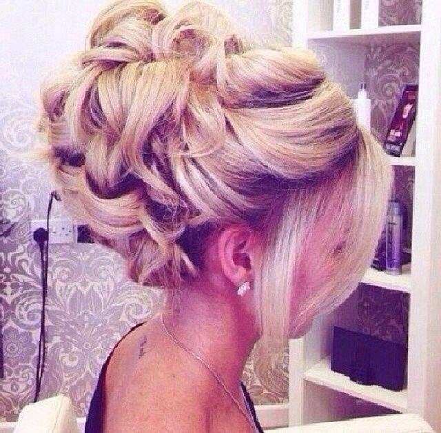 Prom hair.