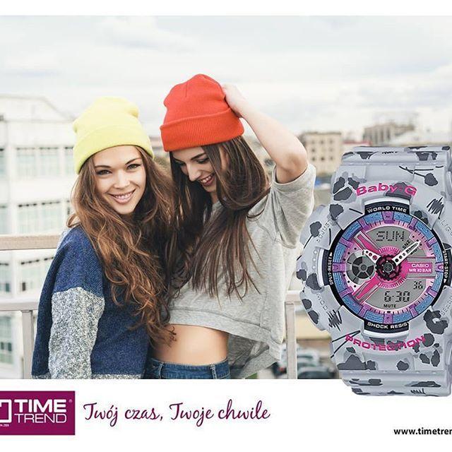 Wolny czas najlepiej spędzać z bliskimi 😘 Razem z pewnością będziecie się dobrze bawić! 😀  Casio Baby-G BA-110 Bit.ly/tt0410  #zegarek #babyg #dobrazabawa #fun #przyjaciele #timetrend