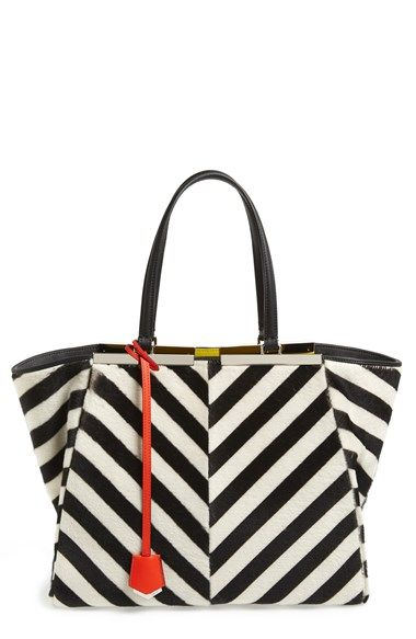 Fendi '3Jours' Shearling Shopper available at #Nordstrom