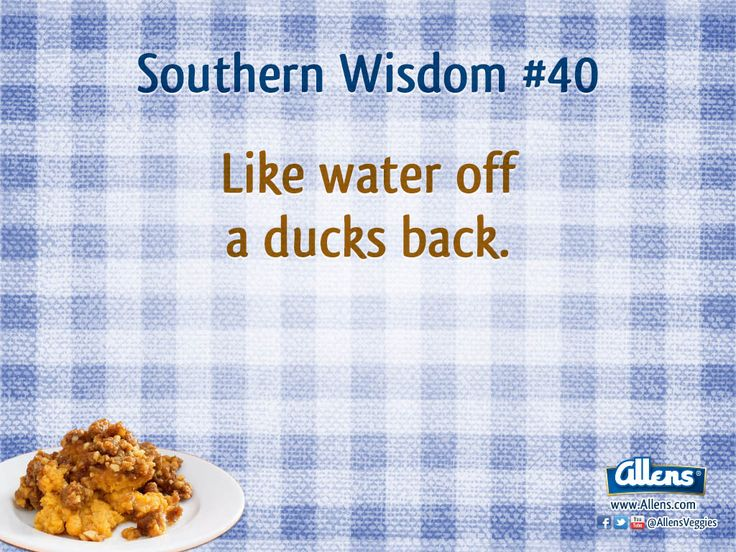Southern Words of Wisdom #40, compliments of a truly southern company... Allens! For more Southern Wisdom visit us on Facebook.com/allensveggies or Allens.com