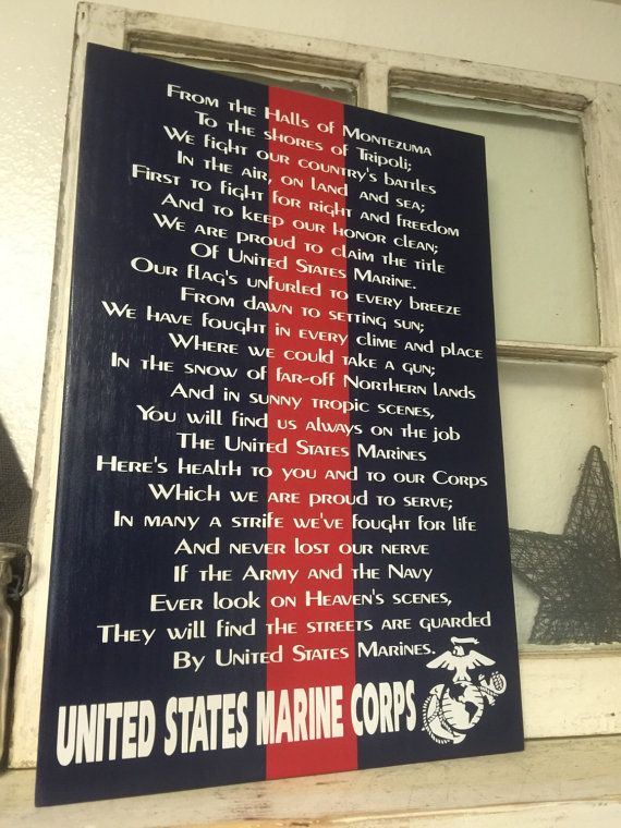 Marine Corps Hymn Personalized by iSTICKerTHAT on Etsy