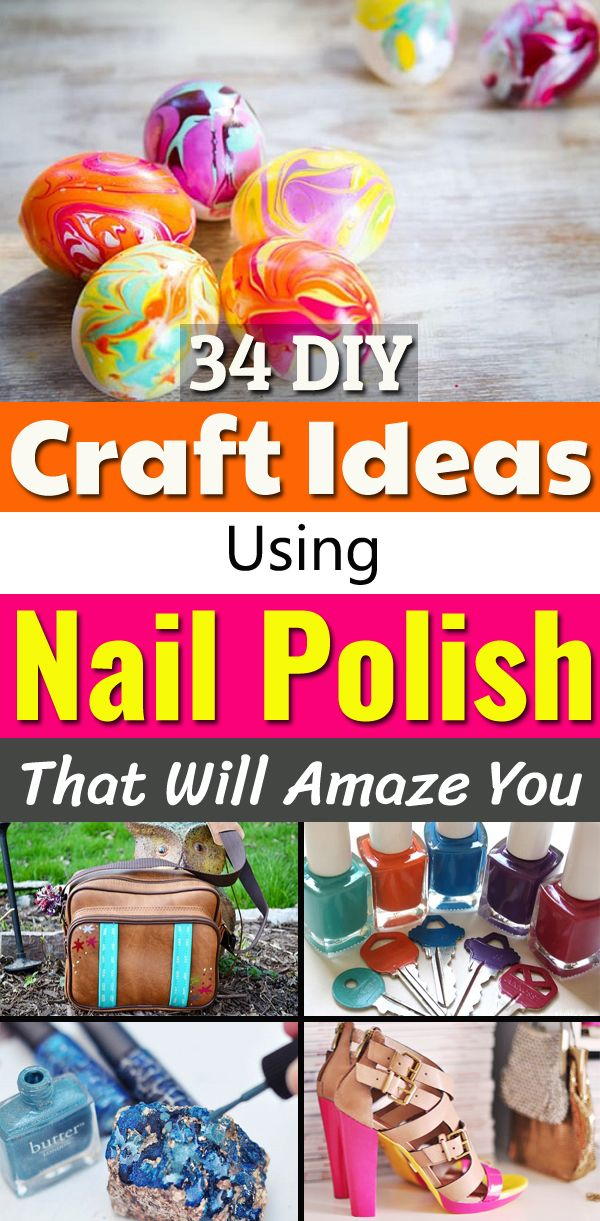 34 DIY Craft Ideas using Nail Polish that will Amaze you