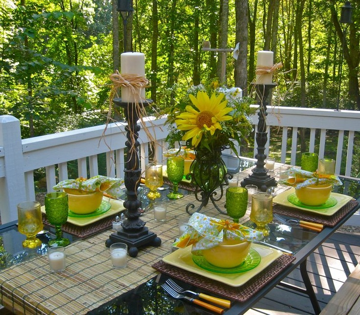 Yellow and Lime Tablescape