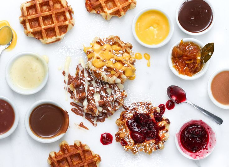 Cafe Medina Vancouver, Canada food plate table indoor dish meal breakfast waffle belgian waffle produce dessert snack food sauce dinner variety
