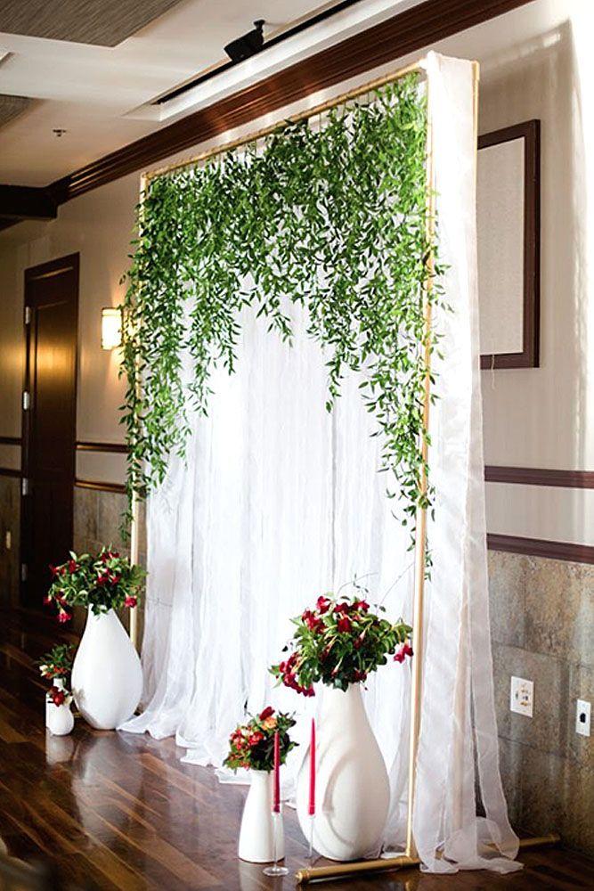 Budget Friendly Wedding Trend: Greenery Wedding Decor ❤️ See more: http://www.weddingforward.com/greenery-wedding-decor/ #wedding #decor