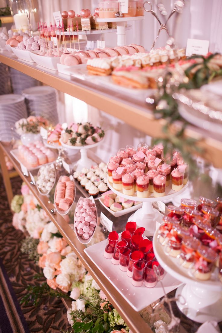 John and Joseph Photography, pink desserts, macarons, small treats, pink roses, mini cakes