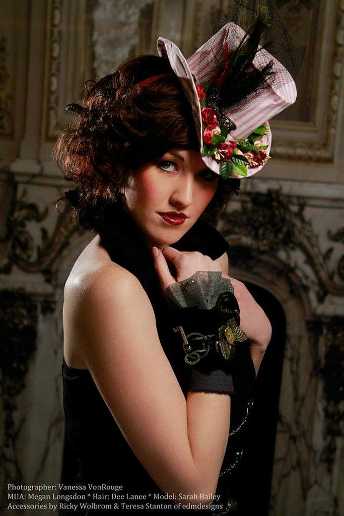 https://flic.kr/p/keHLLf | steampunk textile cuff textile cuff, mixed media wearable art, industrial wrist cuff, steampunk cuff | Copyright: Vanessa VonRougeessa Model: Sarah Bailey MUA: Megan Logsdon Hair: Dee Lanee Jewelry: edmdesigns — with Sarah Bailey, Dee Lanee and Megan Logsdon at Focus On Studio.  Promotional Campaign 2014 for artistic partners Ricky Wolbrom EDM Designs  & Teresa Stanton Half Street Studio