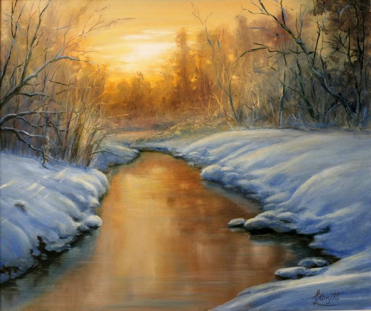 Winter Sundown by Lidia Olbrycht /Poland