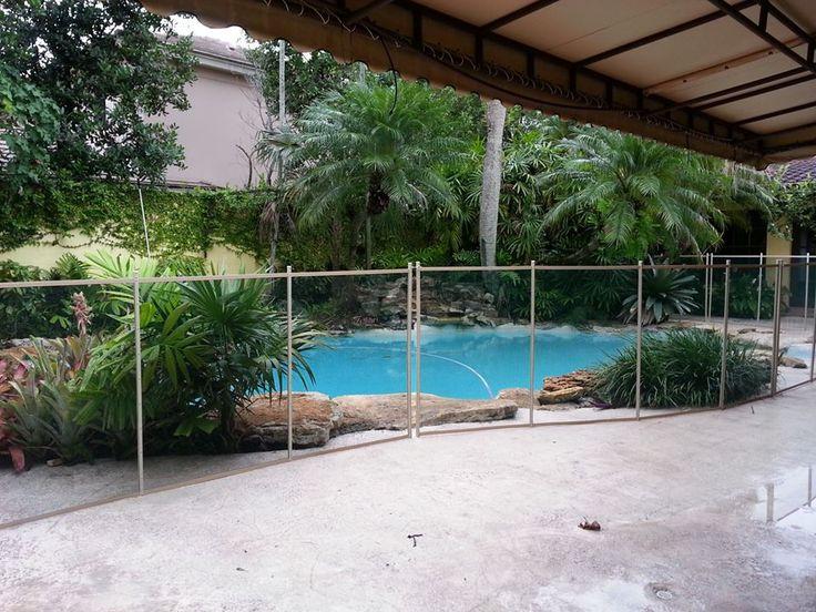 Beautiful swimming pool fence installation