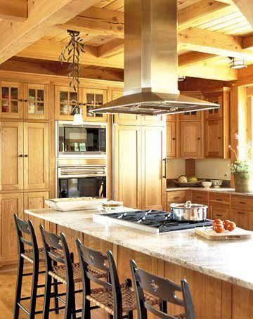 Hoods like these are available, and can be custom-made in Pro100 Design  Software. bhg.com  This stainless-steel chimney-style hood is designed for  ceiling ...