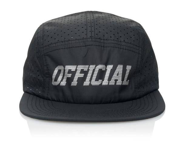 Official Cap Aero Black 5 Panel Perforated Strapback Skateboard Hat OSFM | snapchat @ http://ift.tt/2izonFx