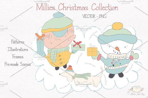 Millies Christmas Collection  by Studio Julie Ann on @creativemarket