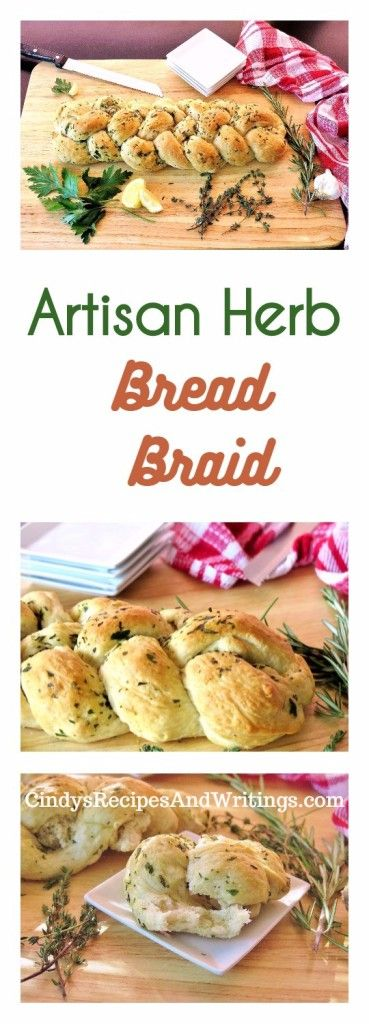 Artisan Herb Bread Braid  Light, flaky, vegan with delicate herbs and lemon zest! #BreadBakers