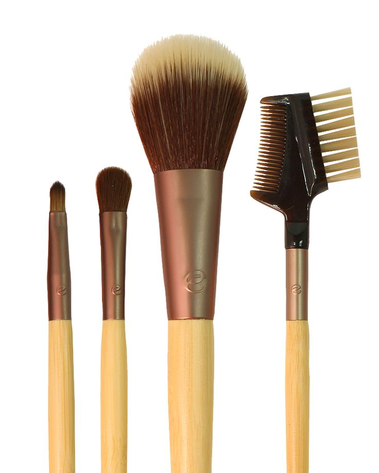 Touch-Up Set: To brighten your complexion midday, use the finishing brush. Add a touch of color before a night out with the eye shading brush and use the lash