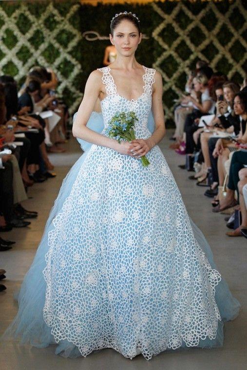 Abiti da sposa blu (Foto)   Matrimonio