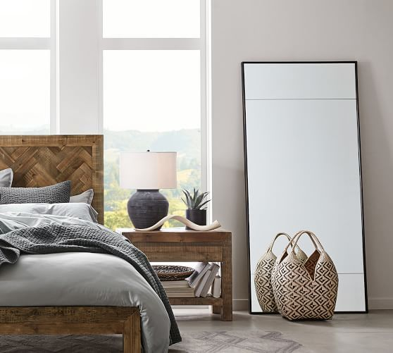 Berke Oversized Iron Frame Floor Mirror In 2020